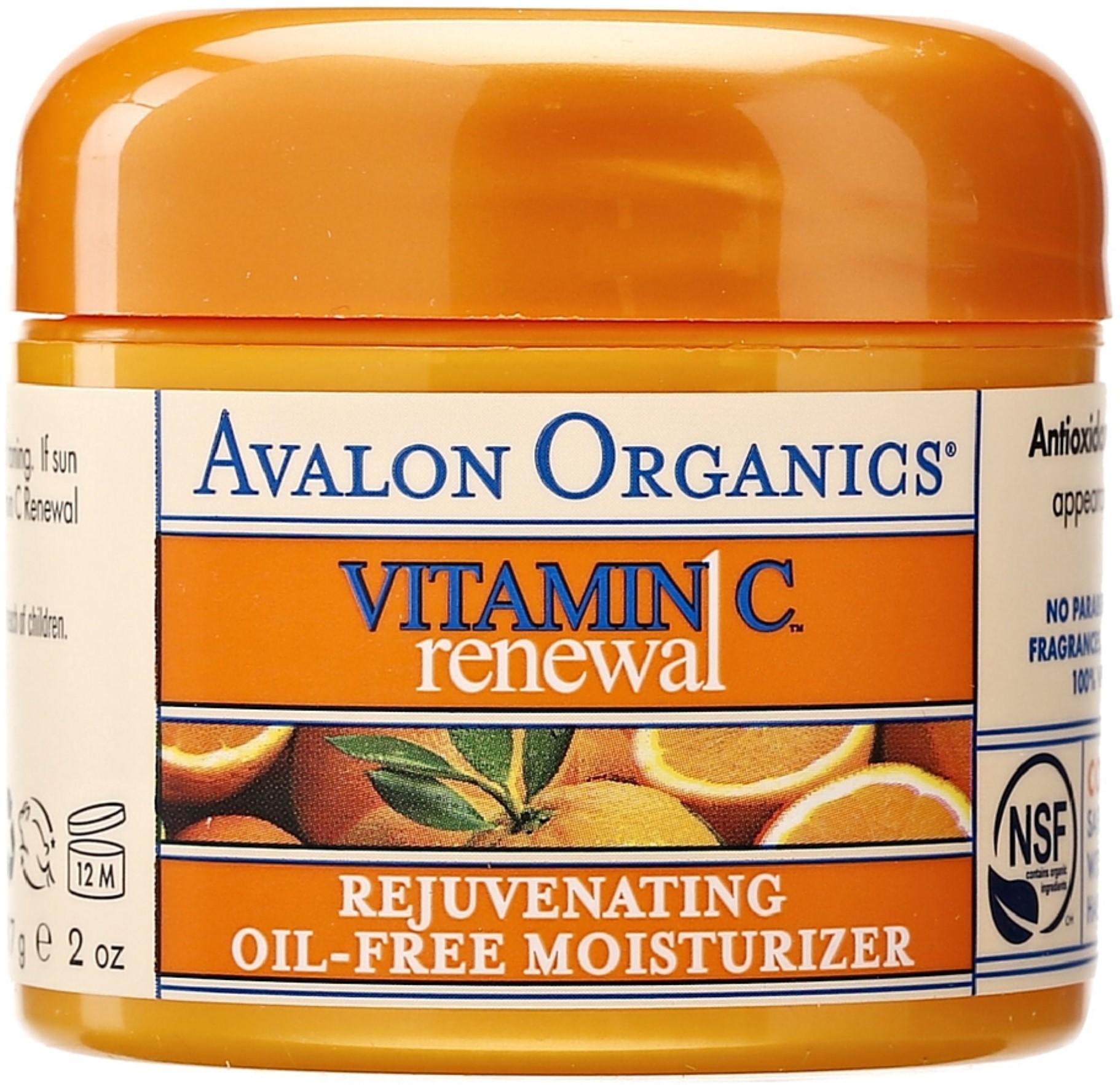Avalon Organics Vitamin C Renewal Rejuvenating Oil-Free Moisturizer 2 oz (Pack of 2)
