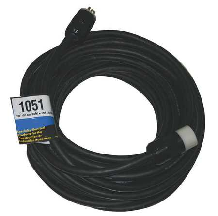 CEP Cord Set,100 ft.,10/5,30A,SOW,Black 1051