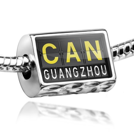 Bead Can Airport Code For Guangzhou Charm Fits All European Bracelets
