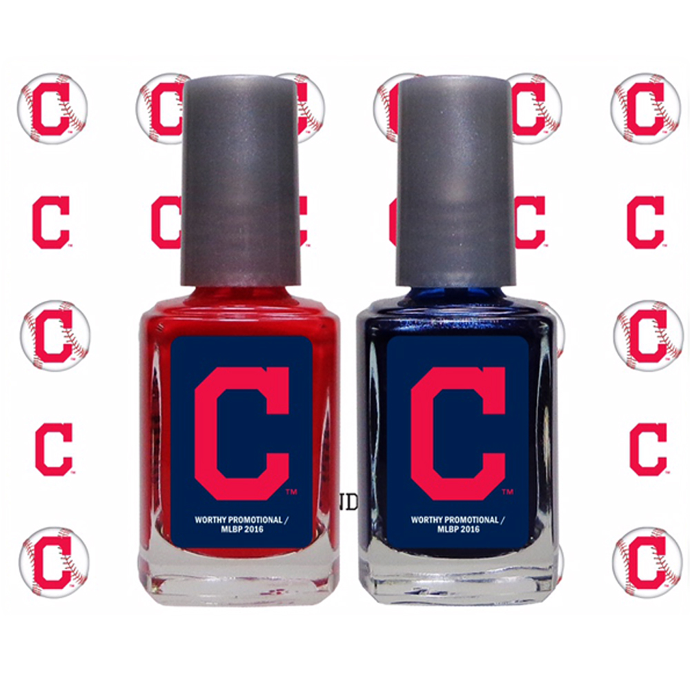 Cleveland Indians Primary Logo 2-Pack Nail Polish and Decal Set - No Size