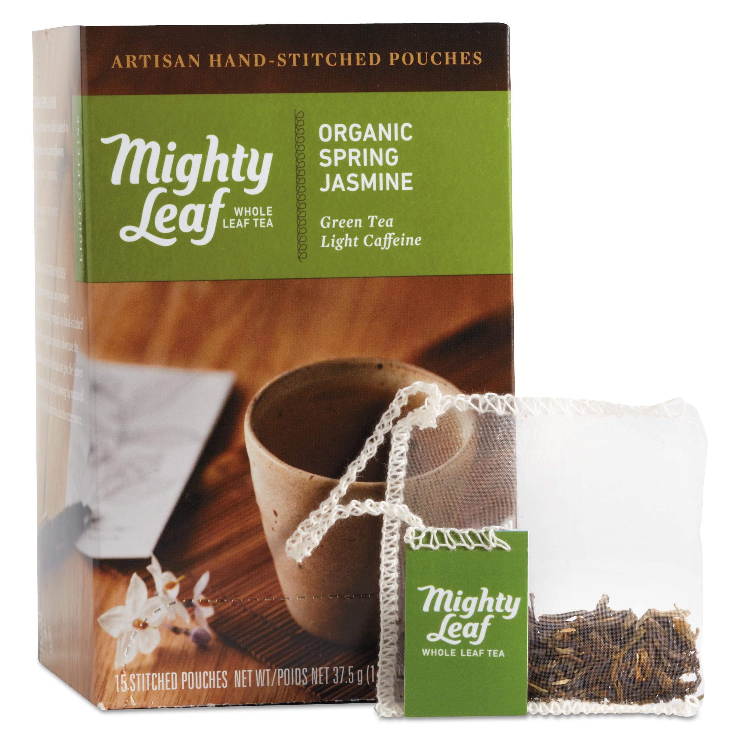 Mighty Leaf Tea Whole Leaf Tea Pouches, Organic Spring Jasmine, 15/Box