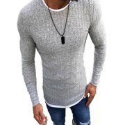Fashion Mens Winter Slim Turtleneck Nice Sweater Round Neck Warm Jumper Pullover