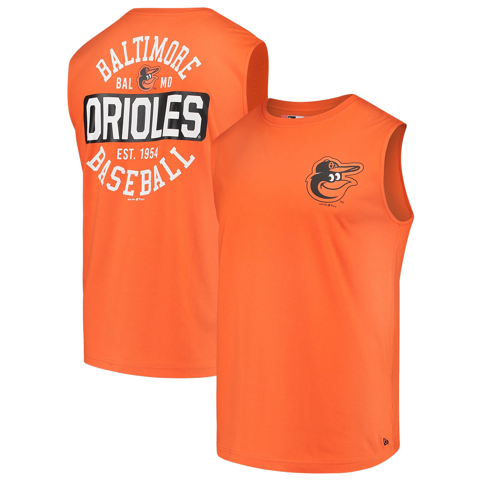 Baltimore Orioles New Era Jersey Muscle T-Shirt - Orange