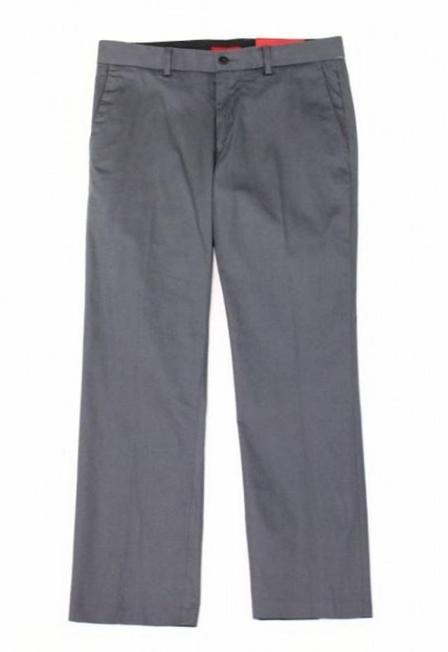 Alfani NEW Gray Mens Size 36X30 Slim-Fit Stretch Flat-Front Pants