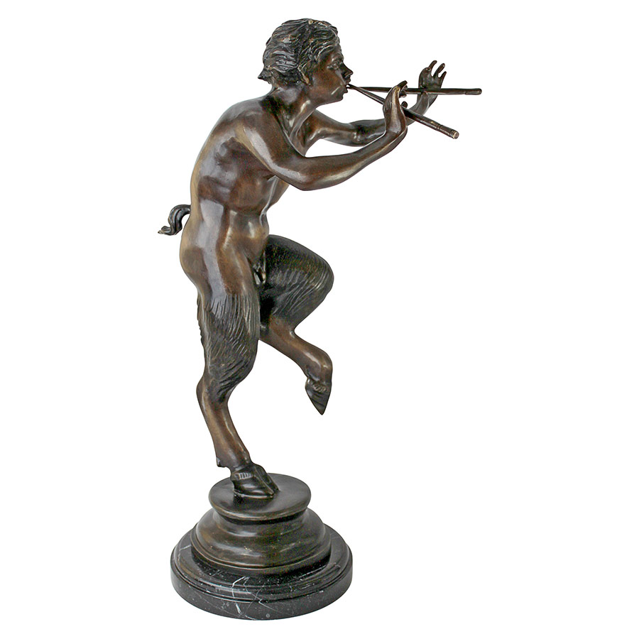 Pan, Greek God of the Forest Cast Bronze Statue: Large