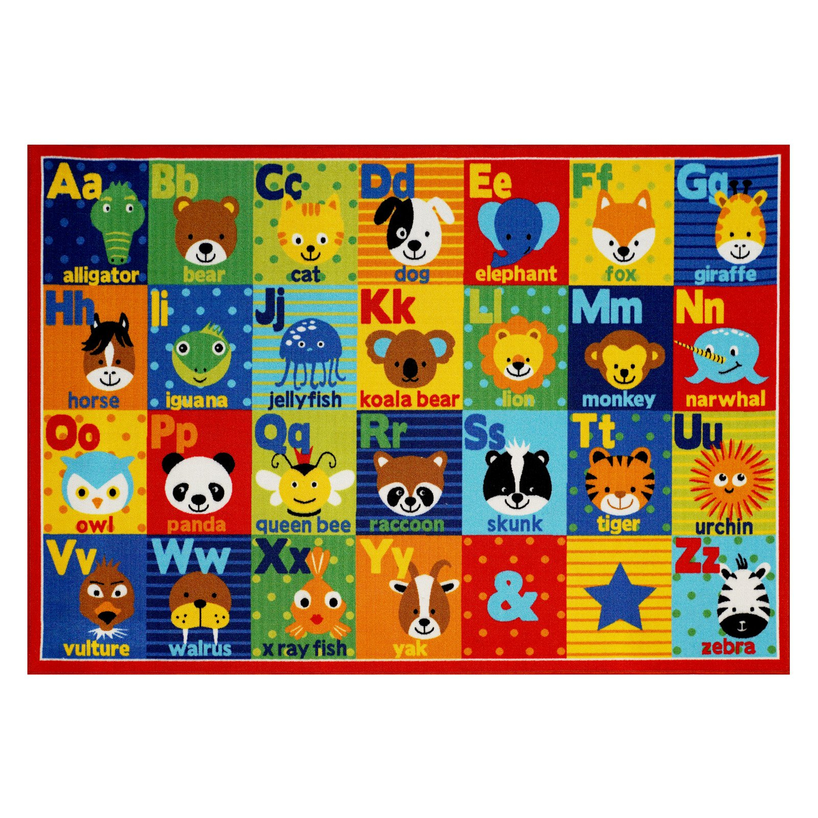 Smithsonian Alphabet Friends Rug