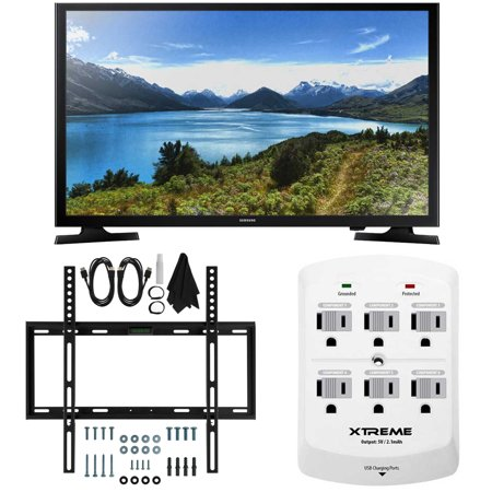 Camera Tv - Samsung UN32J4000 - 32-Inch LED HDTV J4000 Series Slim Flat Wall Mount Bundle includes UN32J4000 32-Inch HDTV, Slim Flat Wall Mount Bundle and 6 Outlet Wall Tap with 2 USB Ports