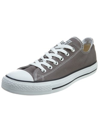 Converse Chuck Taylor All Star Seasonal Ox Charcoal White Ankle High Fashion Sneaker 9.5M 7.5M