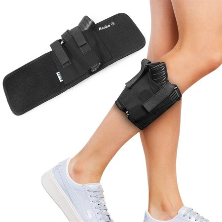 Becko Ankle Holster For Concealed Carry - Fits Glock 26, Glock 27, Glock 30, Glock 42, Glock 43, S&W Shield, Sig P239,36, 26, Smith and Wesson Bodyguard .380, .38, Ruger LCP, LC9