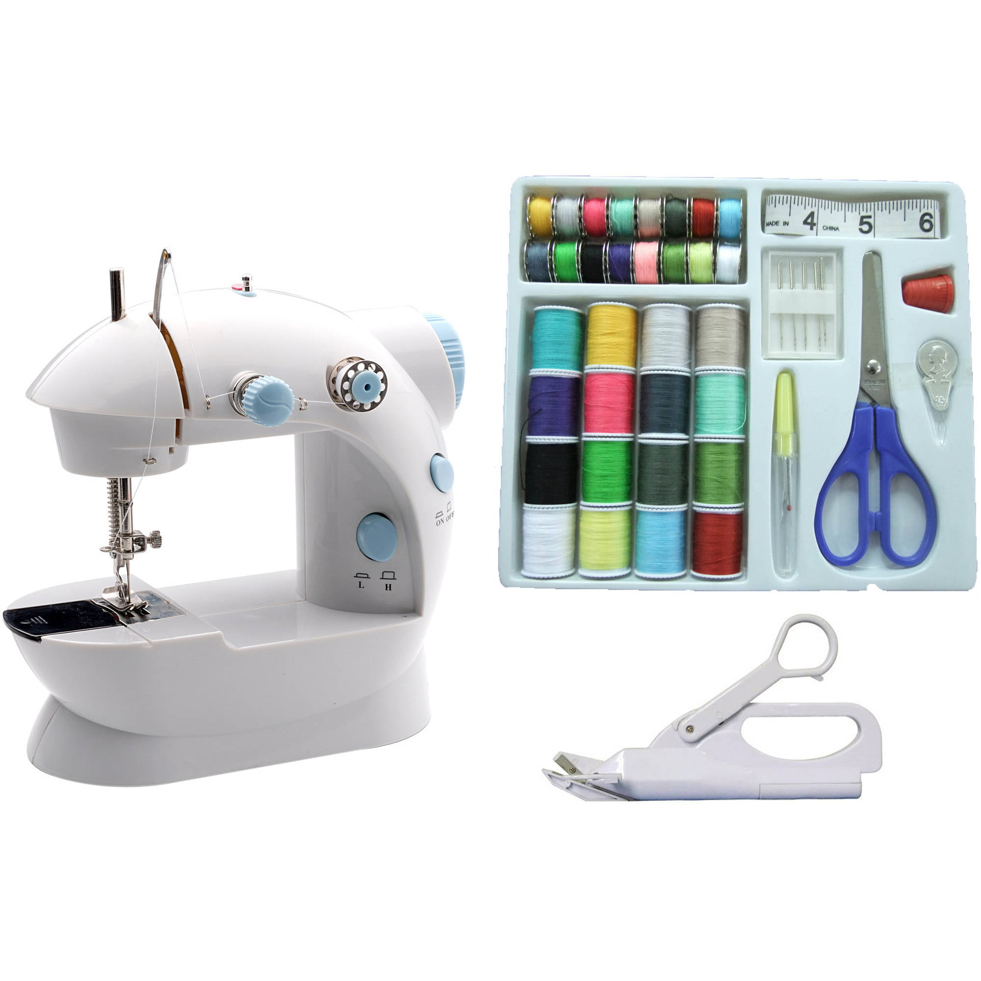 Michley Mini Sewing Machine & Accessories 3-Piece Value Bundle
