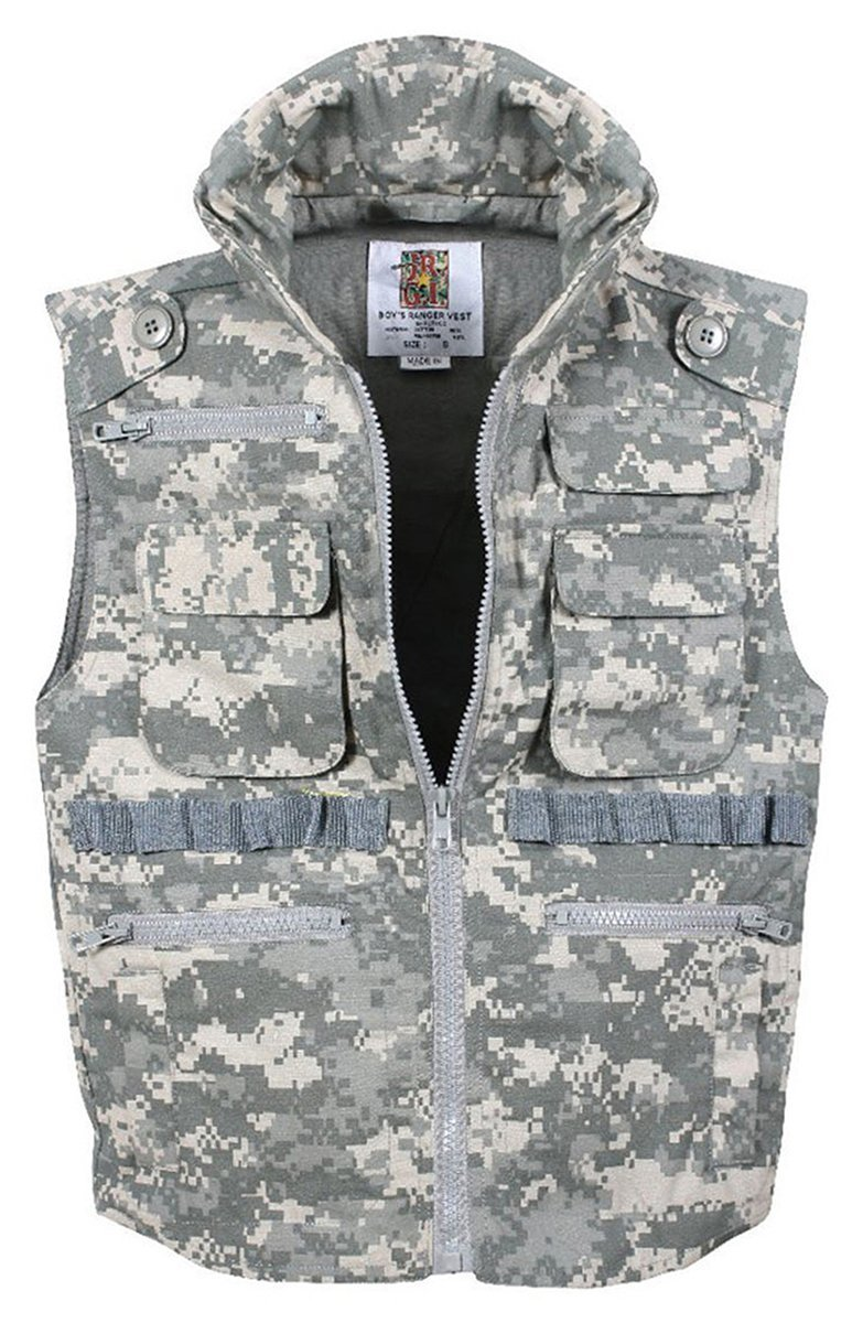 Rothco Kids Ranger Vest - ACU Digital Camo, Medium