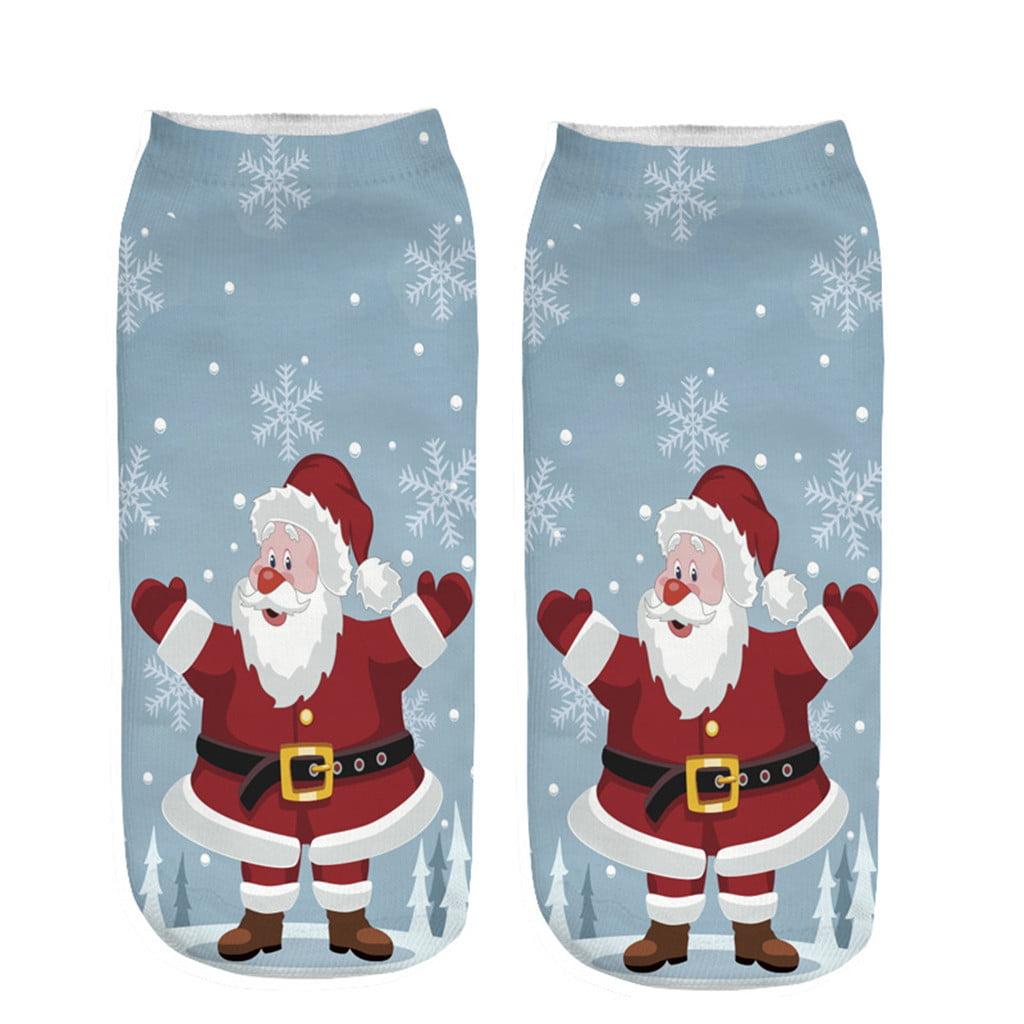 Novelty Festive Christmas Flashing Rings Santa Snowflake Party Fun Xmas Gift New