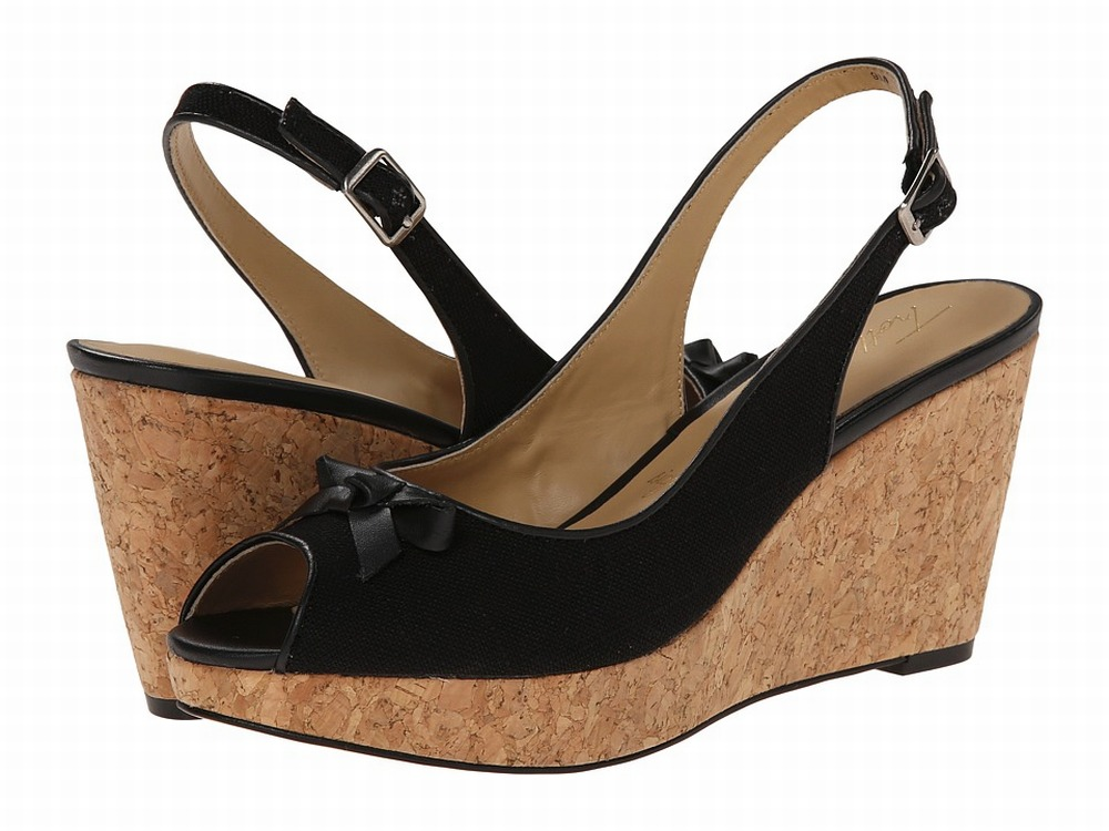 Trotters New Black Shoes 10N Platforms & Wedges Leather Heels by Trotters