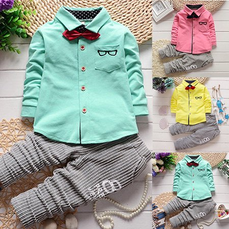 440bed4b31c9 (Asian Size)Girl12Queen 2pcs Toddler Baby Boys Kids Shirt Top + Long Pants  Clothes Outfits Gentleman Set - Walmart.com