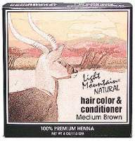 Hair Color & Conditioner-Brown Light Mountain 4 oz Powder