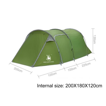 5 Person Camping Tent Tunnel Cabin Waterproof Shelter Two ...