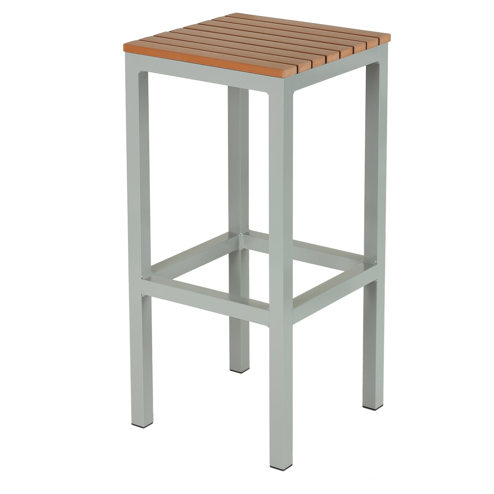 Cortesi Home Lola Backless Aluminum Outdoor Barstool