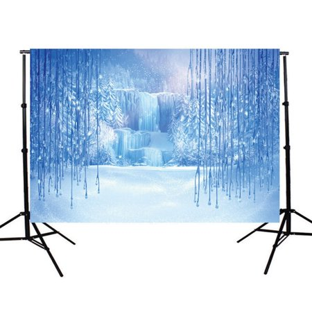 GreenDecor Polyster 7x5ft ROMANCE In SNOW Romantic Photo Studio Ice Cold Winter Photography Backdrop Background Studio Prop Best For Children,Newborn,Baby,Video and