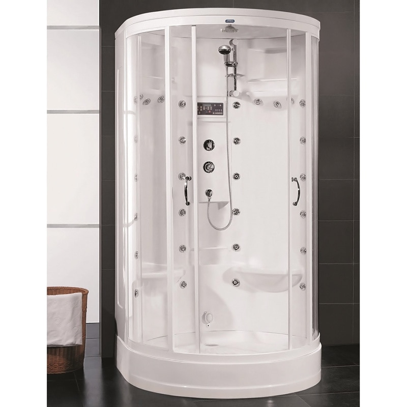 Aston  White 87-inch 30-jet Steam Shower