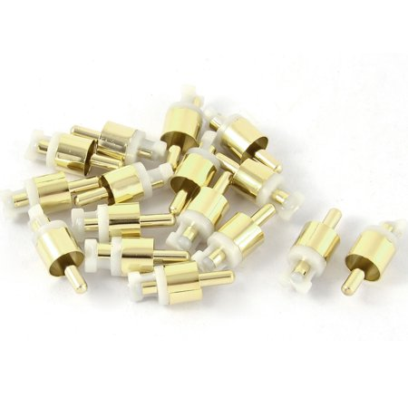 16pcs PCB Panel Mounted RCA Male Audio AV Coaxial Cord Adapter Coupler Converter Av Coaxial Adapter
