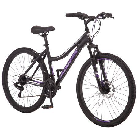 Mongoose Excursion mountain bike, 21 speeds, 26-inch wheels, womens, (Mongoose Angle)