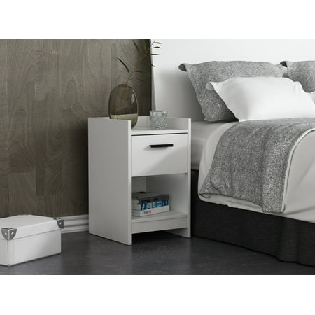 Homestar Central Park 1-Drawer Nightstand, Multiple Finishes (Knight Stand)