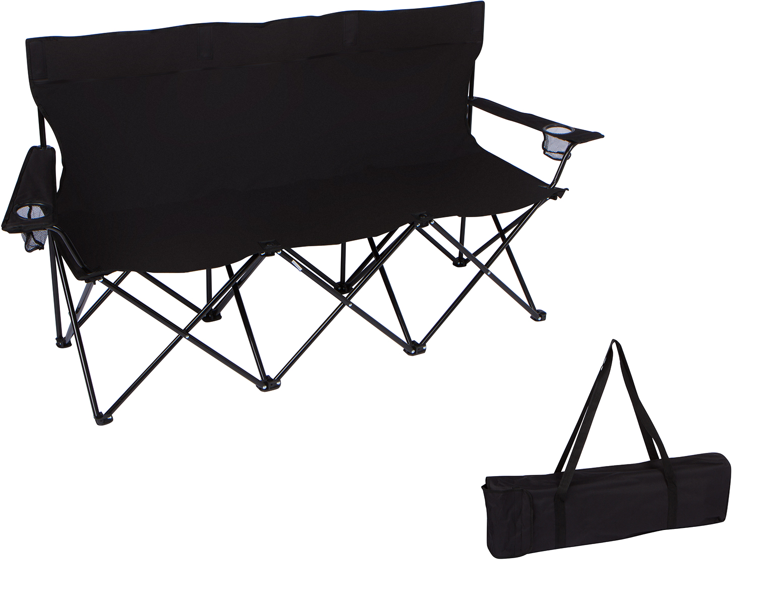 "Click here to buy 65"" Triple Style Tri Camp Chair with Steel Frame and Carry Bag by Trademark... by Trademark Innovations."