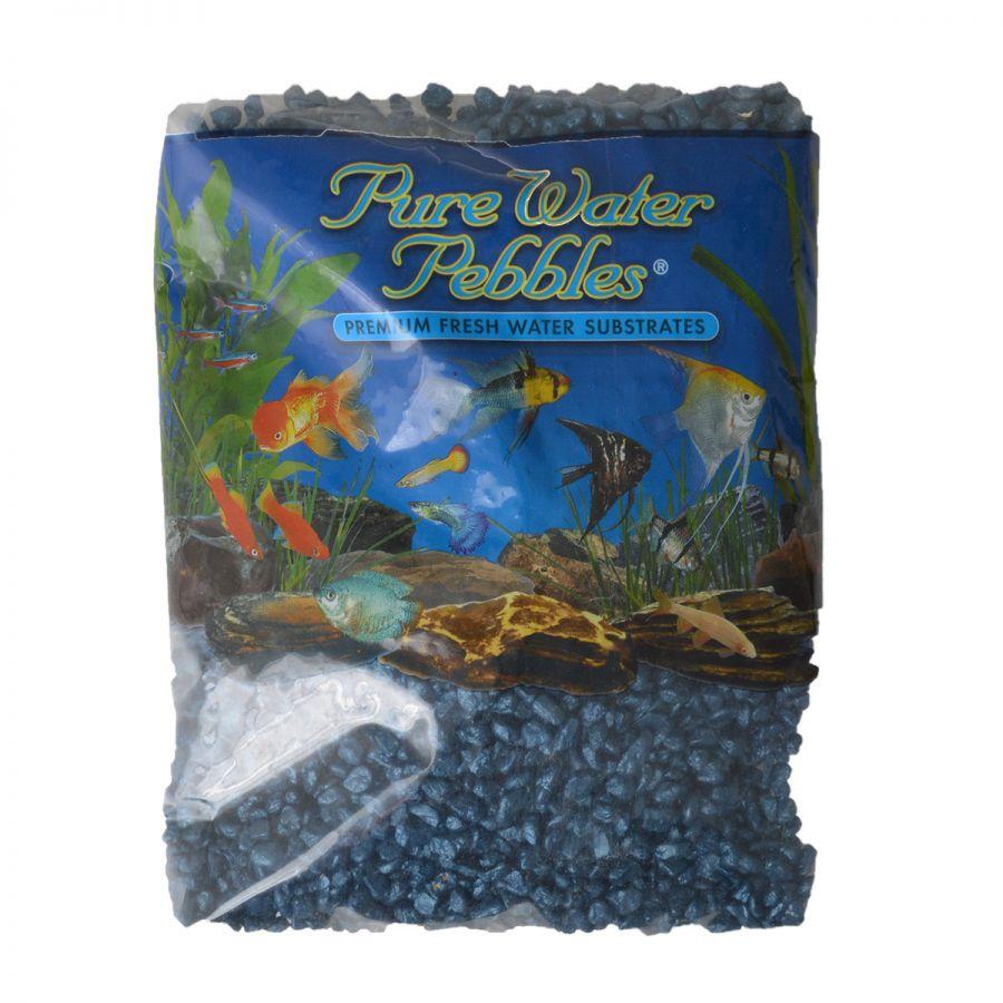 Pure Water Pebbles Aquarium Gravel - Deep Blue Frost 5 lbs (8.7-9.5 mm Grain)