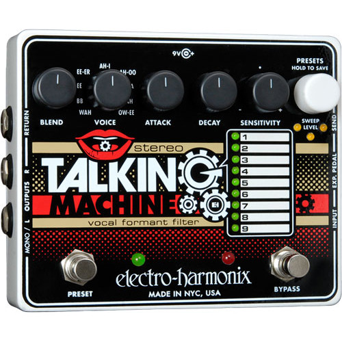 Electro-Harmonix Stereo Talking Machine Vocal Formant Filter Guitar Effects Pedal