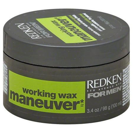 Working Wax (Redken For Men Maneuver Medium Control Working Wax, 3.4)