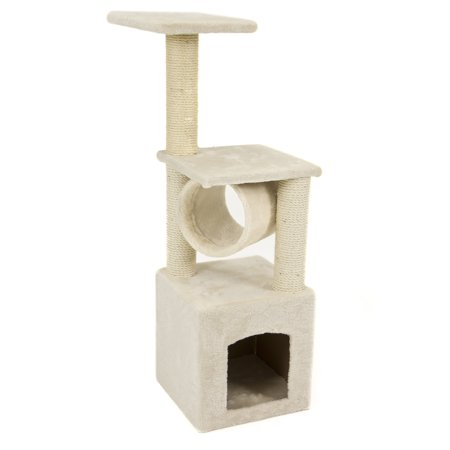Deluxe Cat Tree 36  Condo Furniture Scratching Post Pet House Play Toy