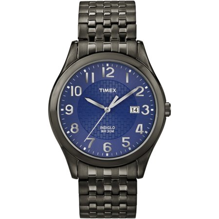 Men's Woodcrest Drive Watch, Black Stainless Steel Expansion Band