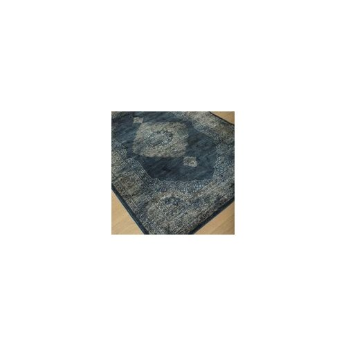 Image of Wildon Home Sonoma Navy Blue/Silver Area Rug