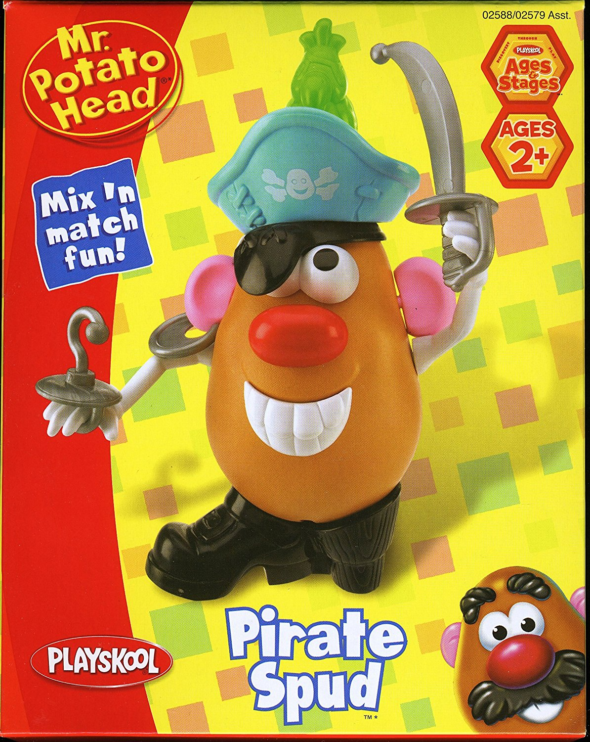 Mr. Potato Head Pirate Spud, Includes potato body and 14 Pirate themed body parts By... by