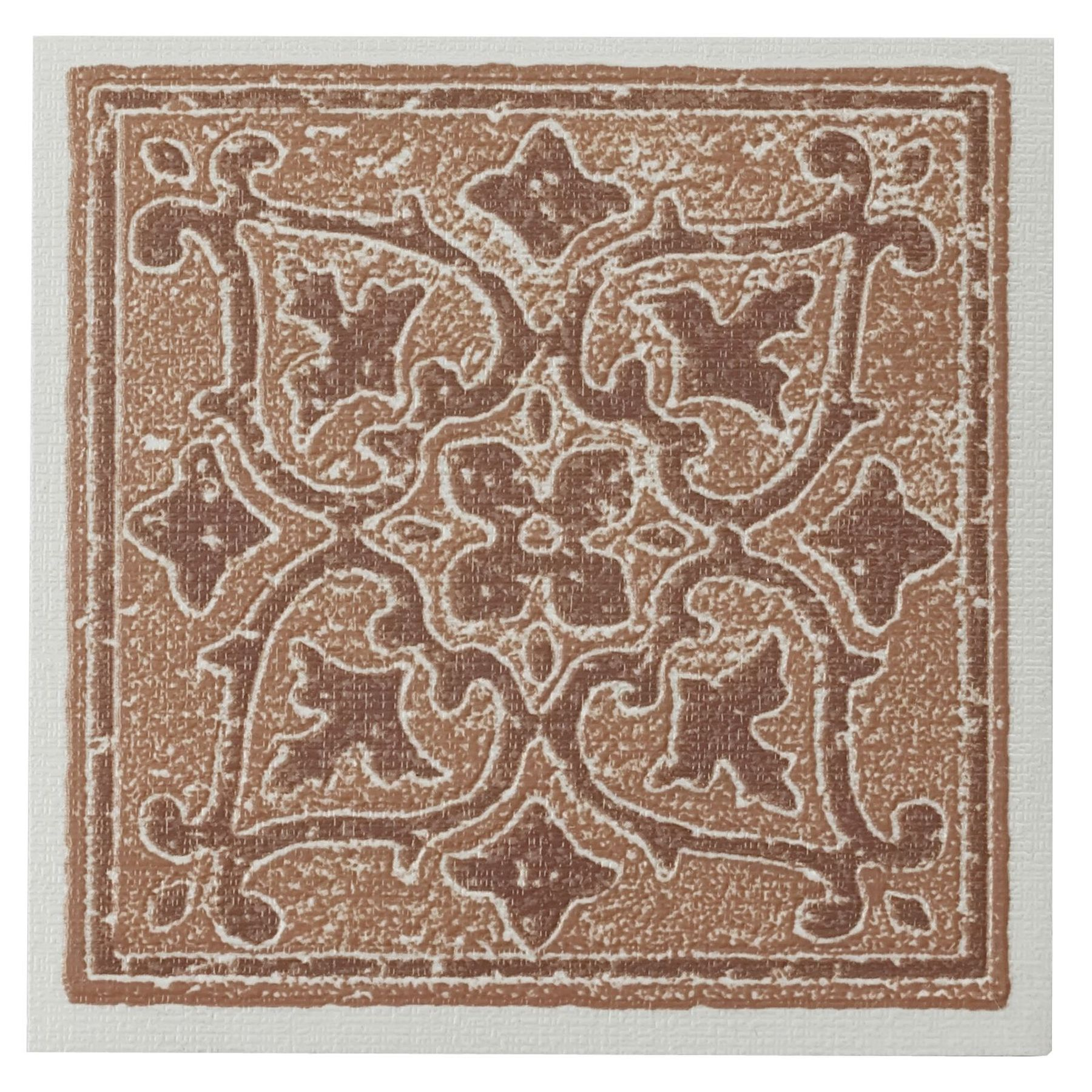 Traditional Elegance Madison Accent Terra 4x4 Self Adhesive Vinyl Wall Tile - 27 Tiles/3 sq. Ft.