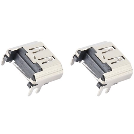 Games&Tech 2 Pcs HDMI Port Socket Interface Connector Replacement HDMI Port for Sony Playstation 4 PS4 (Tech Trak Conductive Connector)