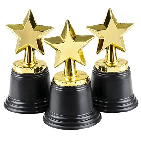 Shooting Star Trophy Award - Gold Award Star Trophy 12 Pack 4.5