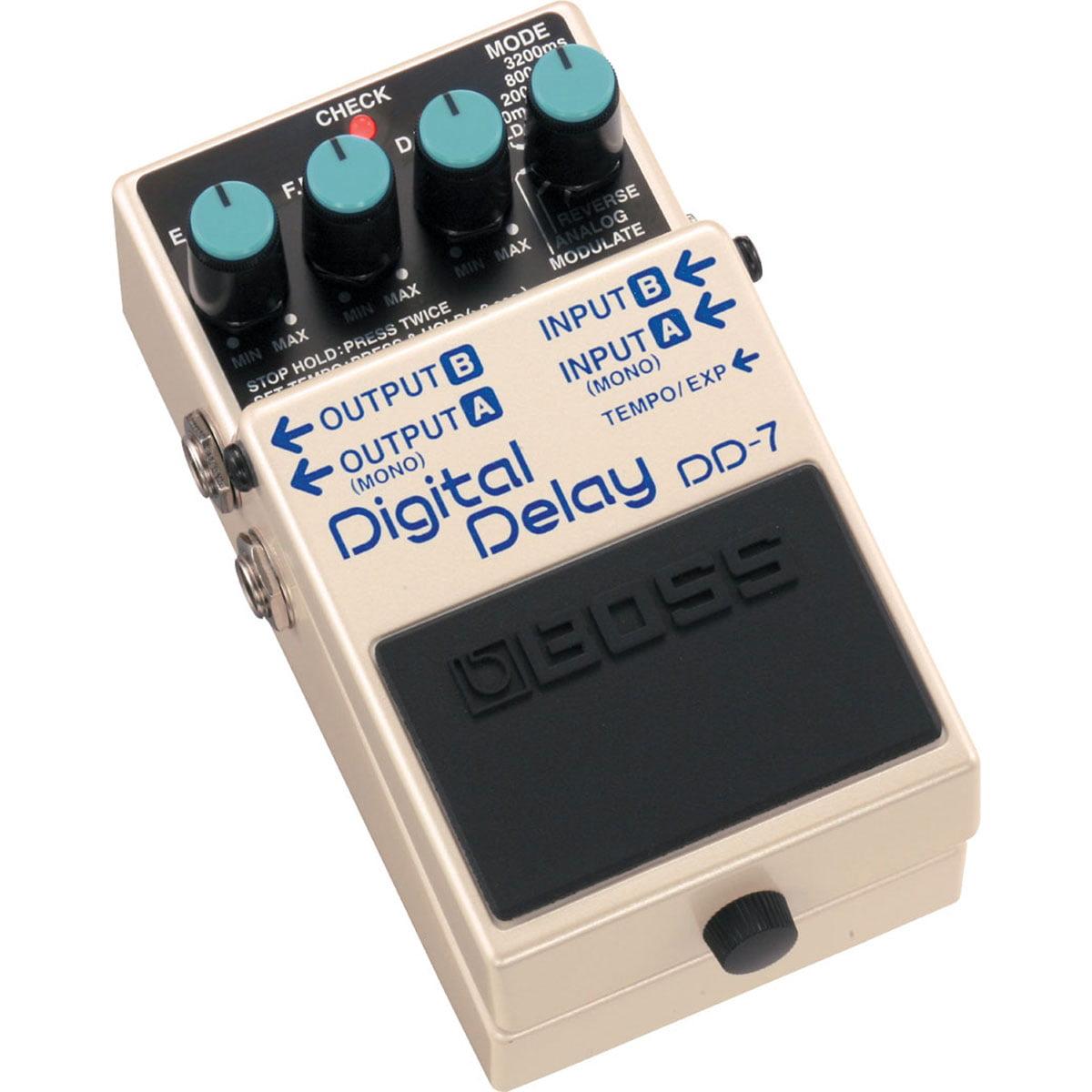 Boss DD-7 Digital Delay Compact Audio Sound Effect Guitar & Bass Stompbox Pedal by Boss