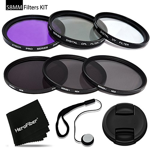 58mm Filters KIT for 58mm Lenses and Cameras includes: 58mm Filters Set (UV, ...