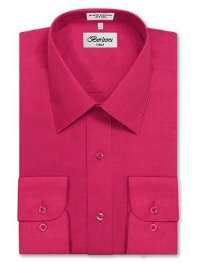 734fa627b52 Product Image Berlioni Italy Men s Long Sleeve Solid Premium Dress Shirt