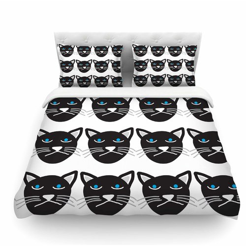 East Urban Home Grumpy Cat by Vasare Nar Animals Featherweight Duvet Cover