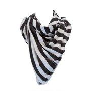 Religion Women's Striped Blanket Scarf One Size Black & White