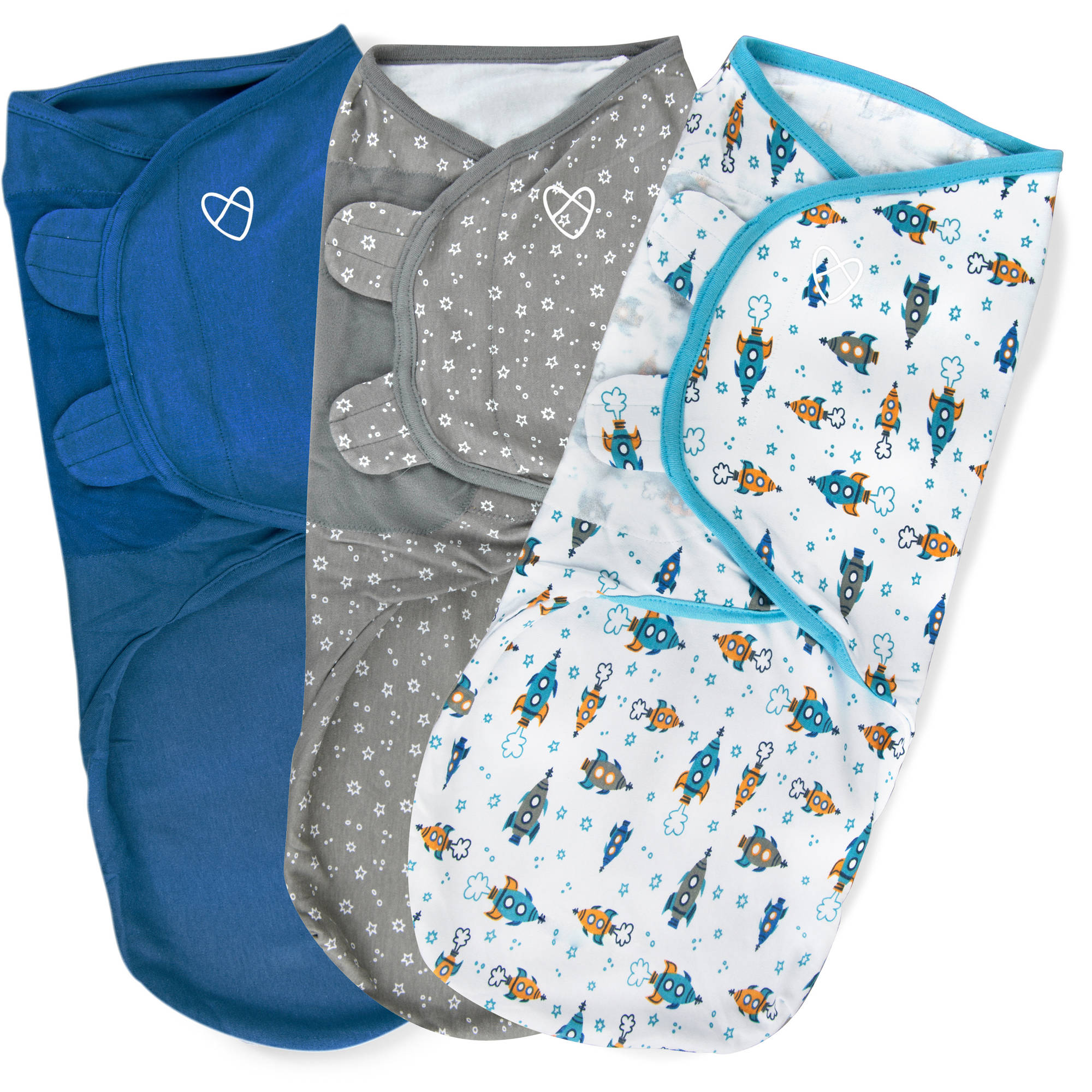 SwaddleMe Original Swaddle, 3-Pack, Superstar, Large