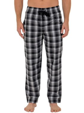 Fruit of the Loom Men's Microsanded Woven Plaid Pajama Pant