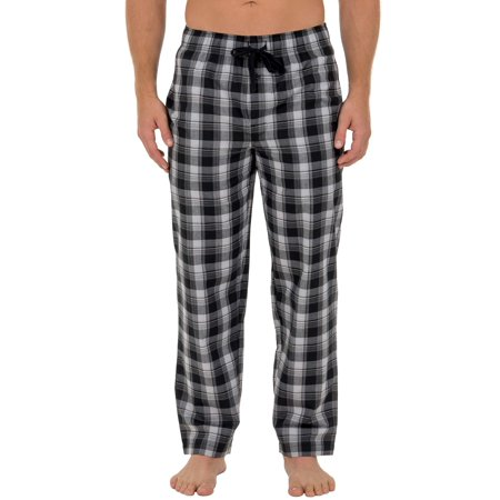 Fruit of the Loom Men's Microsanded Woven Plaid Pajama Pant (Flannel Pj Pants For Juniors)