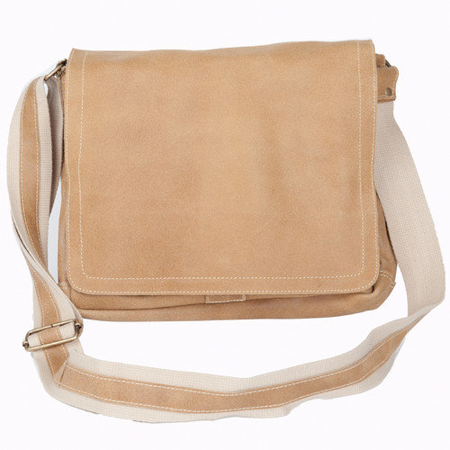 North South Laptop Messenger, Tan, One Size