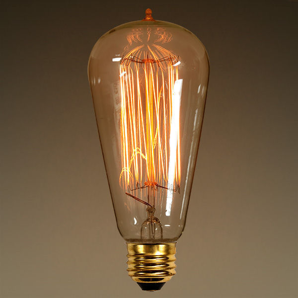 40 Watt Edison Style Vintage Antique Light Bulb - 4.75 in. Length - Squirrel Cage Filament