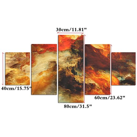 5Pcs Canvas Painting Print Star Clusters Wall Art Picture Home Decor