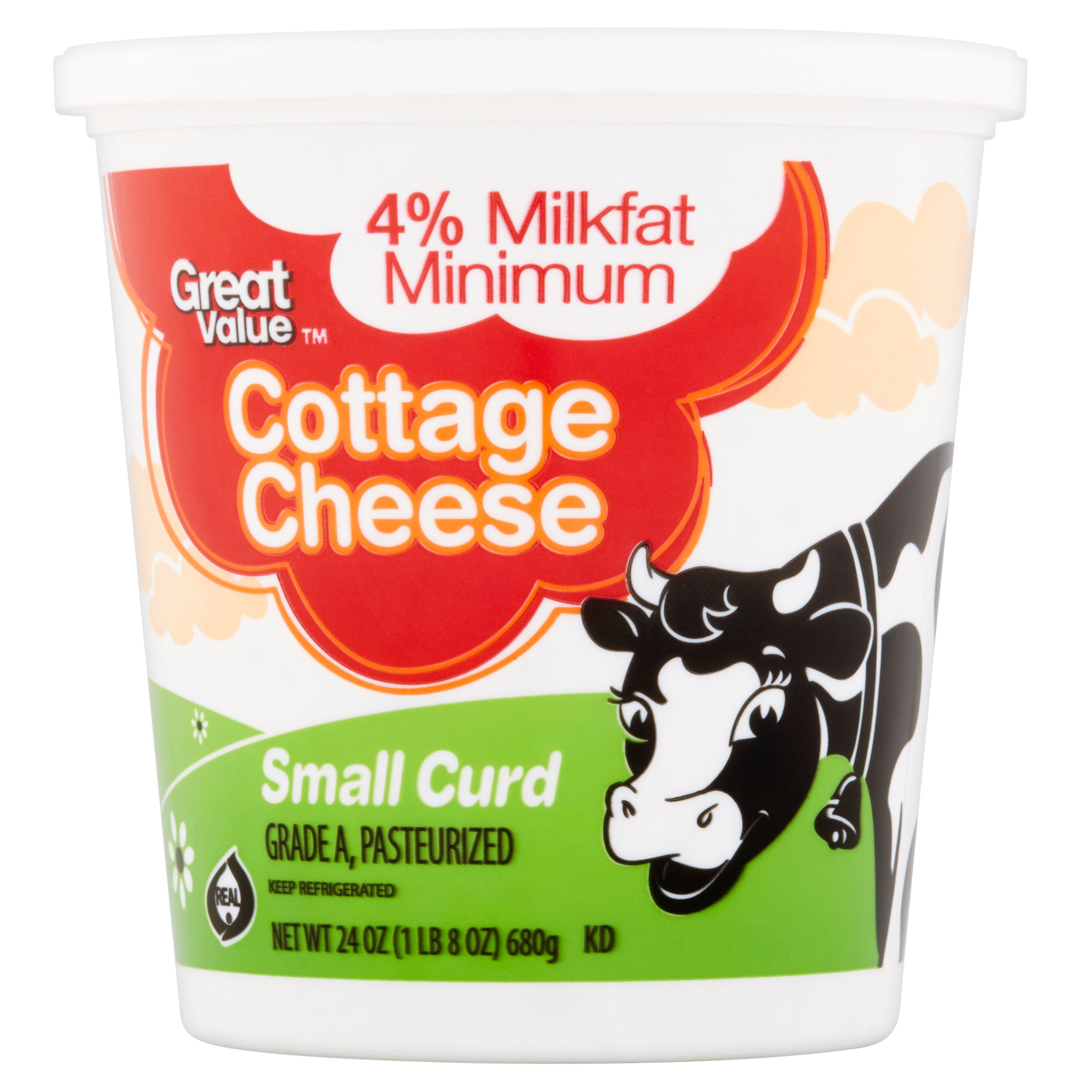 Great Value Small Curd Cottage Cheese, 24 oz by Wal-Mart Stores, Inc.
