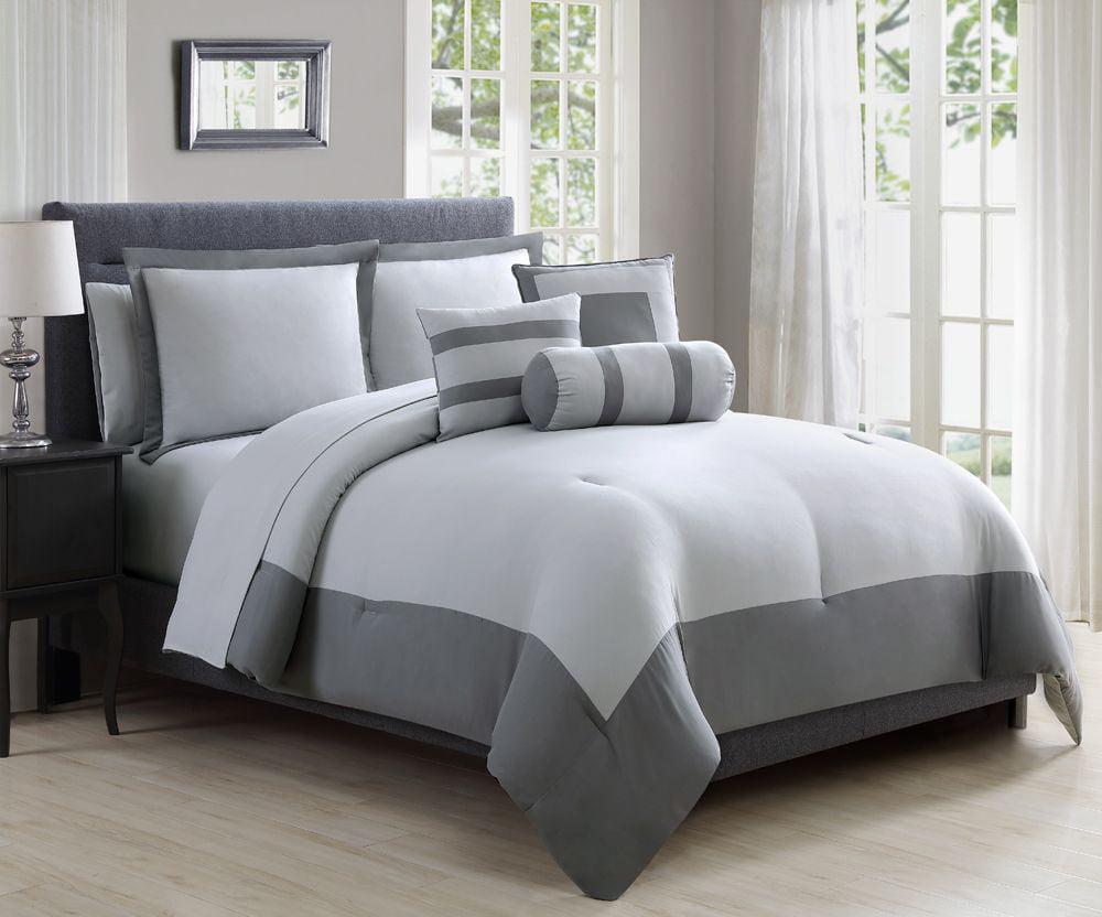 10 Piece Radiance Buff/Silver Comforter Set w/Sheets - Walmart.com
